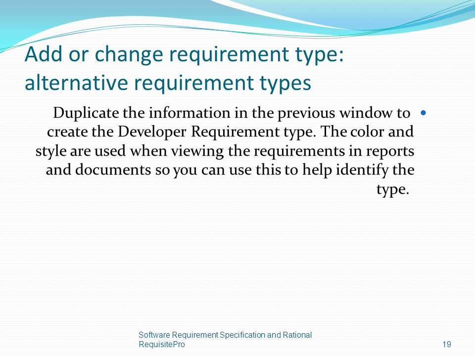 Add or change requirement type: alternative requirement types