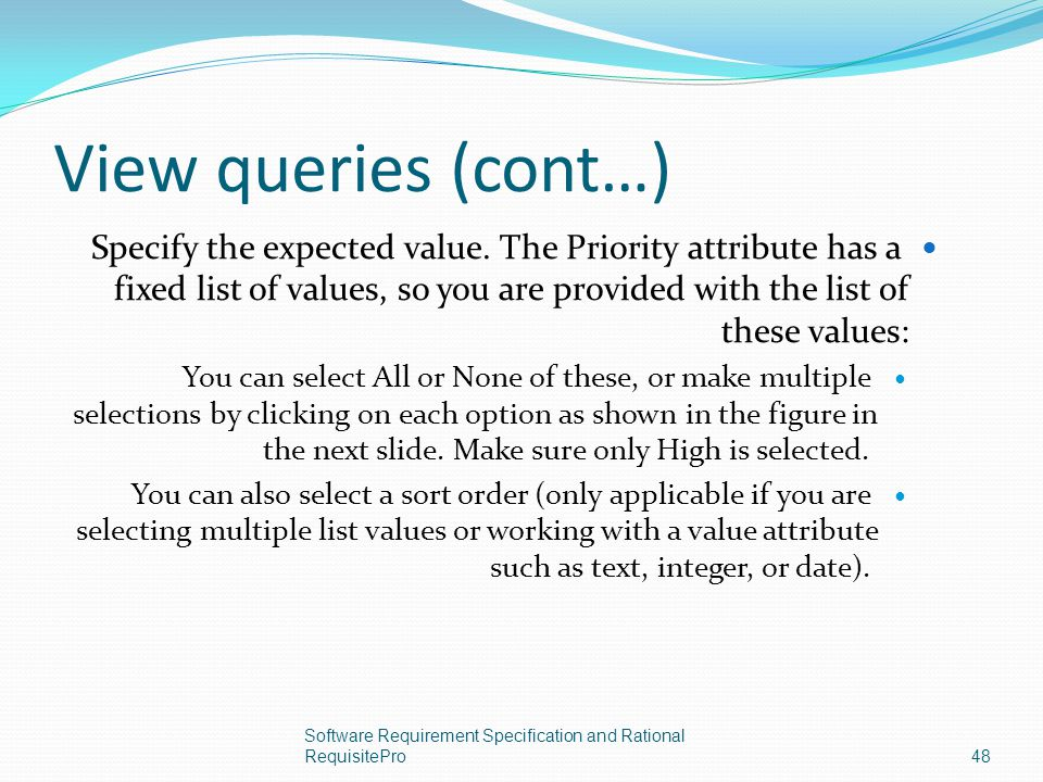 View queries (cont…)