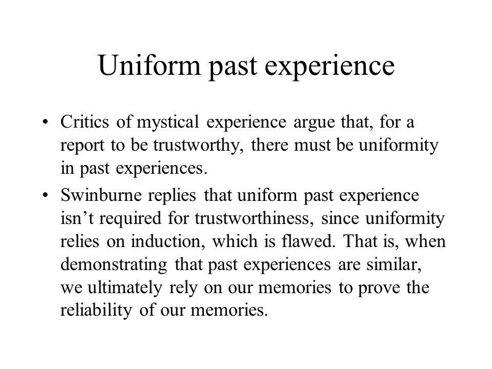 Uniform past experience