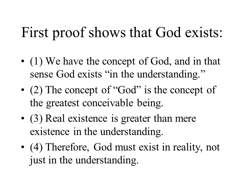 First proof shows that God exists: