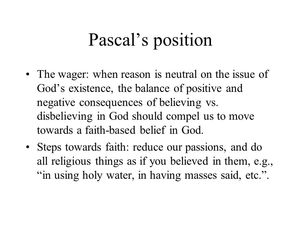 Pascal's position