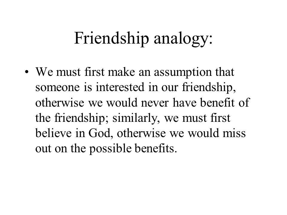 Friendship analogy: