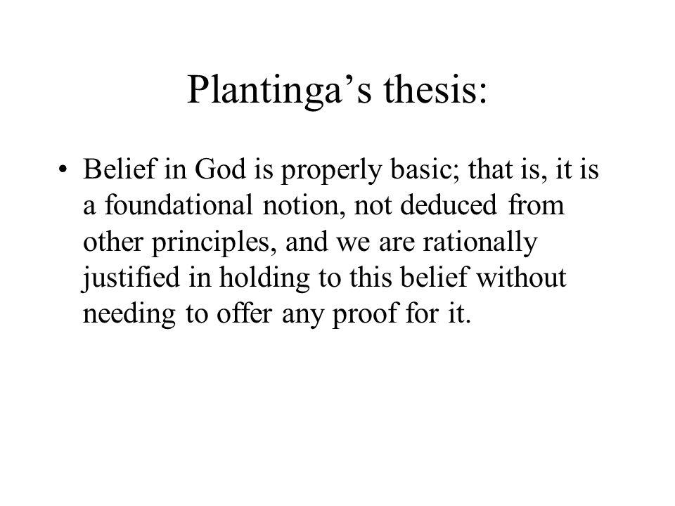 Plantinga's thesis: