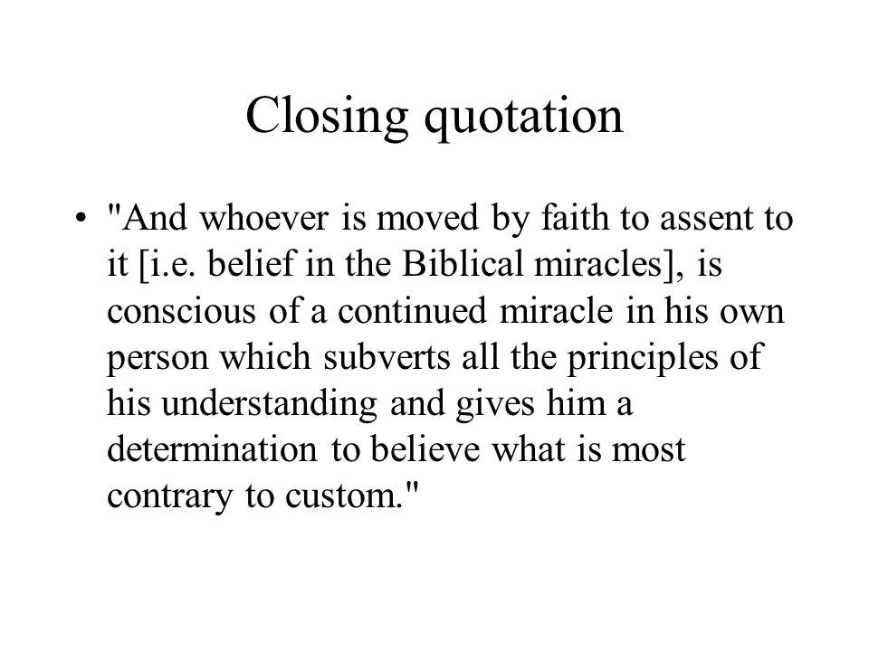 Closing quotation