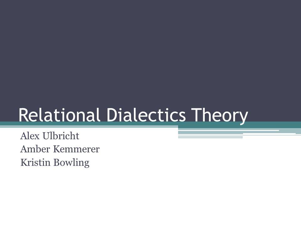 Relational Dialectics Theory