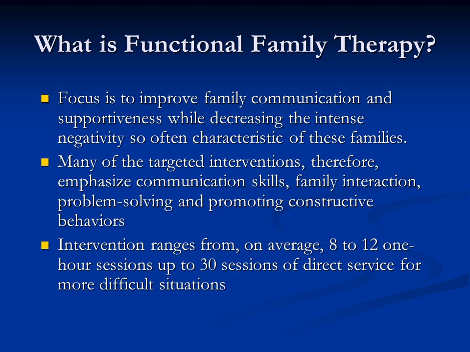 What is Functional Family Therapy