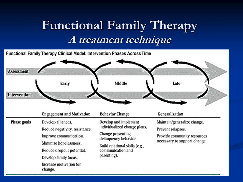 Functional Family Therapy A treatment technique