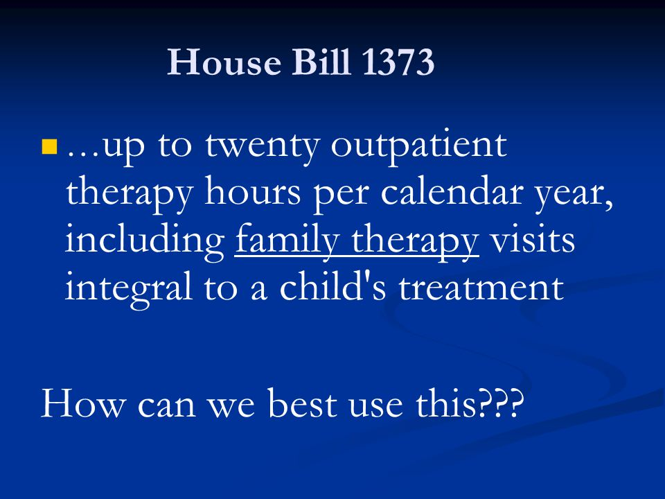 How can we best use this House Bill 1373