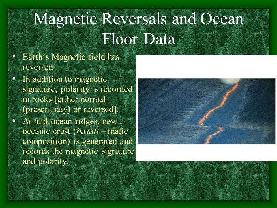 Magnetic Reversals and Ocean Floor Data