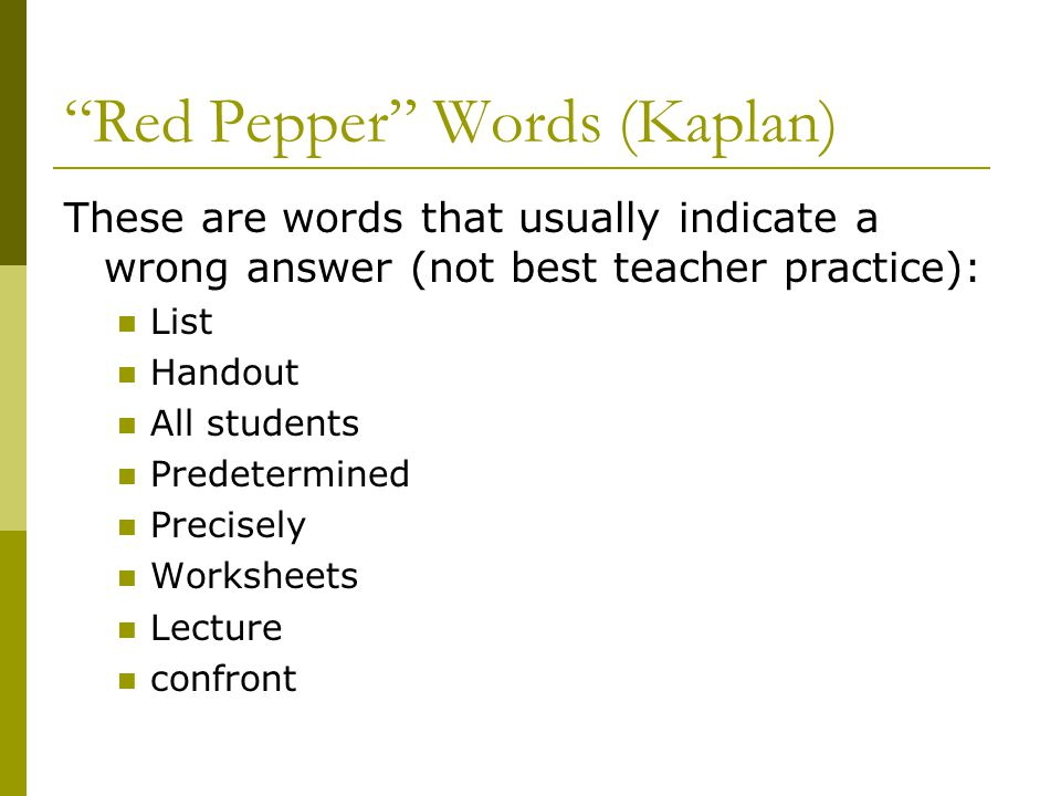 Red Pepper Words (Kaplan)