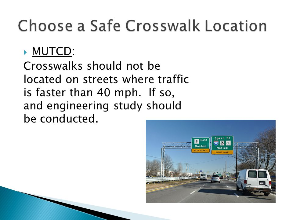 Choose a Safe Crosswalk Location