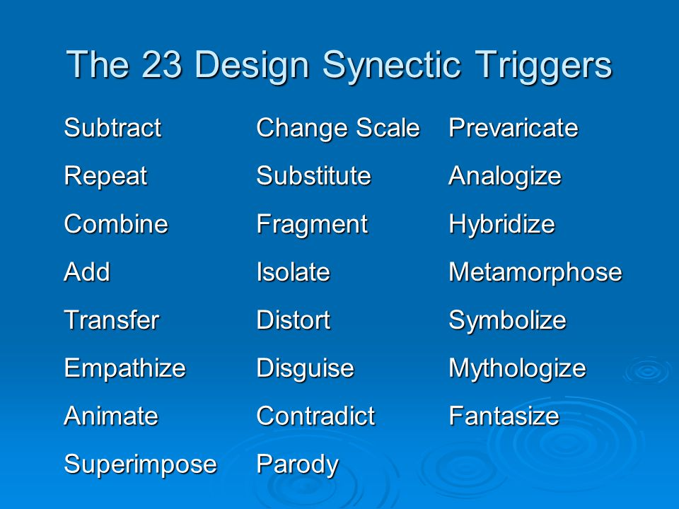 The 23 Design Synectic Triggers