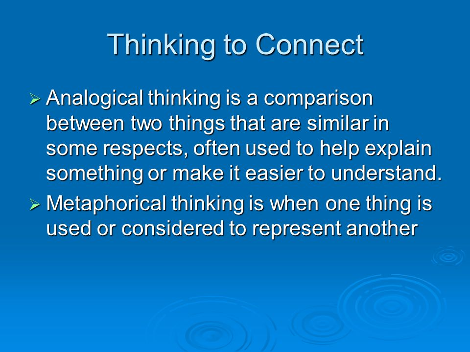 Thinking to Connect
