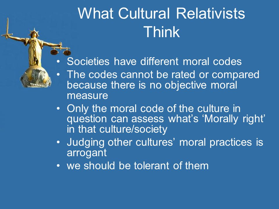 What Cultural Relativists Think