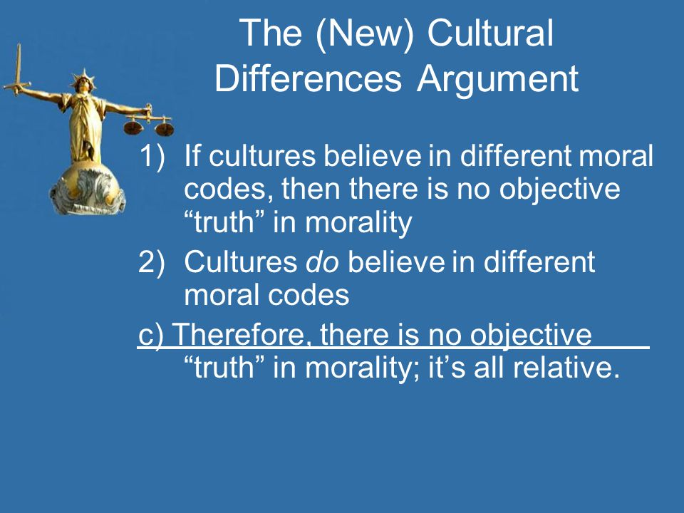 The (New) Cultural Differences Argument