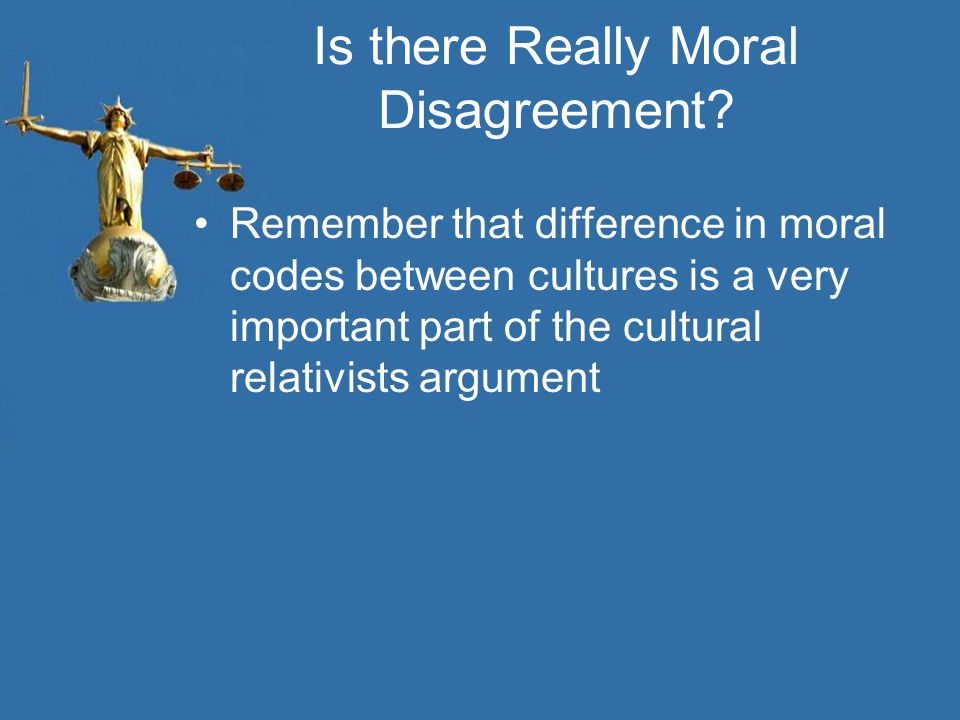Is there Really Moral Disagreement