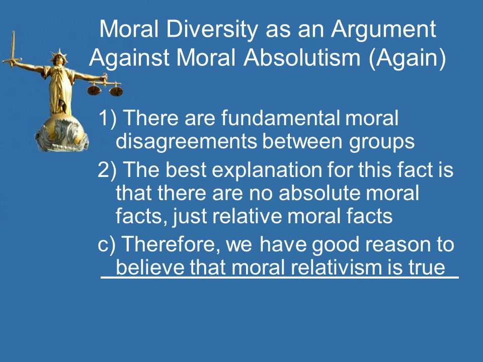 Moral Diversity as an Argument Against Moral Absolutism (Again)