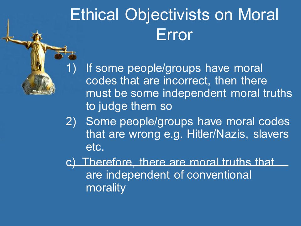 Ethical Objectivists on Moral Error