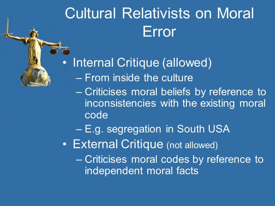 Cultural Relativists on Moral Error