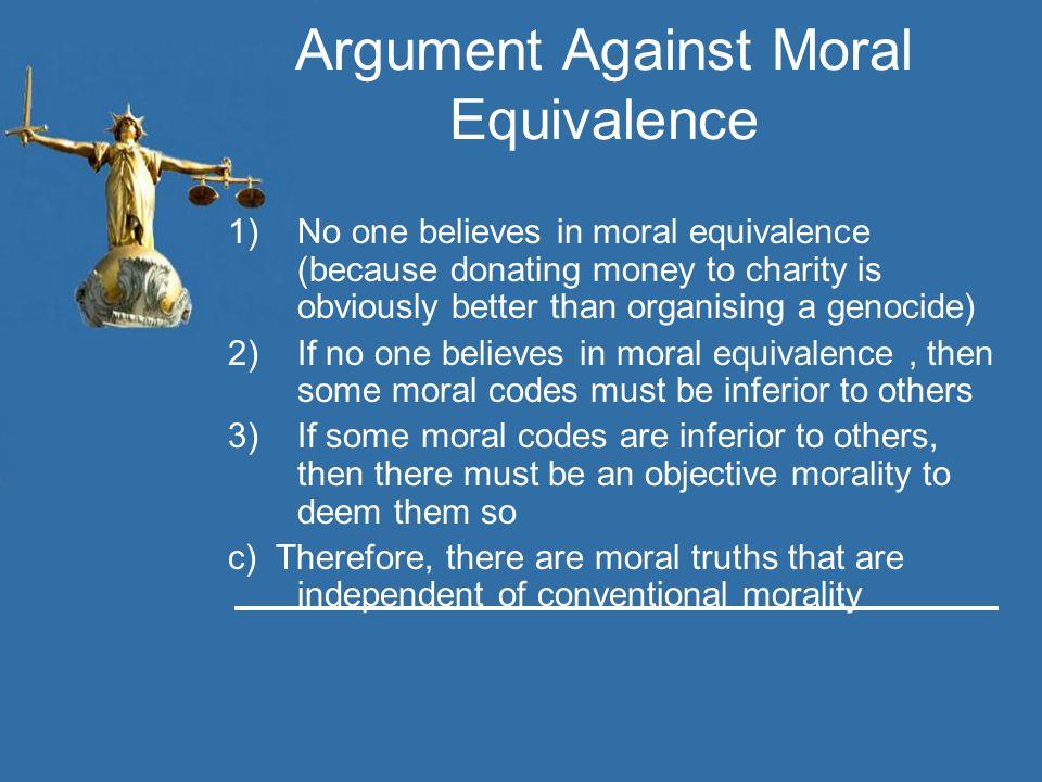 Argument Against Moral Equivalence