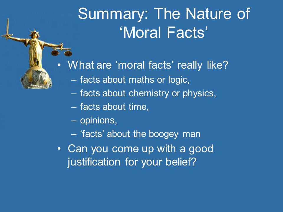 Summary: The Nature of 'Moral Facts'