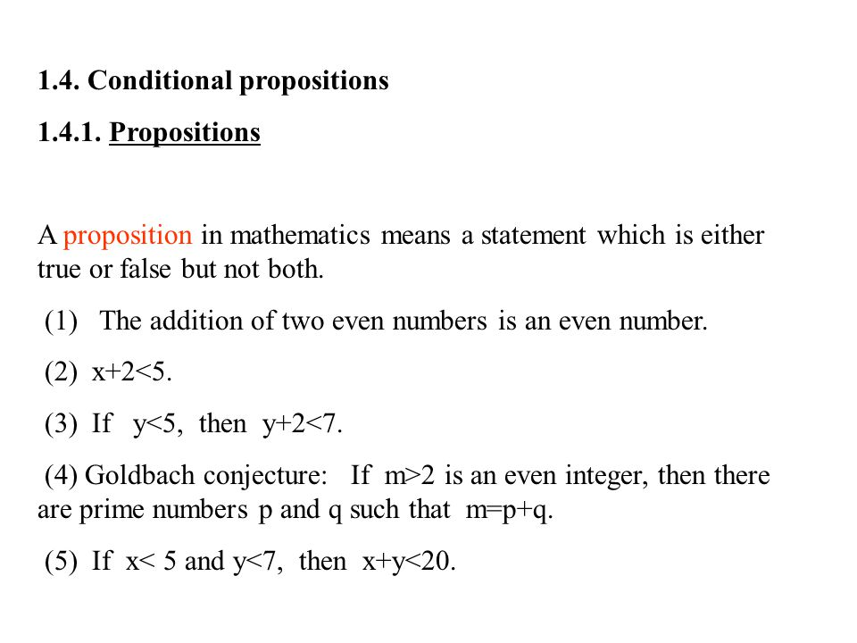 1.4. Conditional propositions