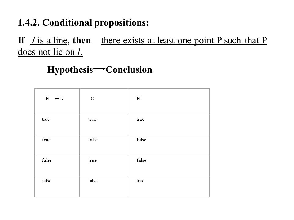 1.4.2. Conditional propositions: