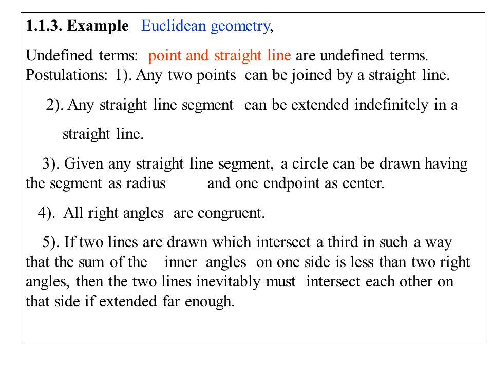 1.1.3. Example Euclidean geometry,