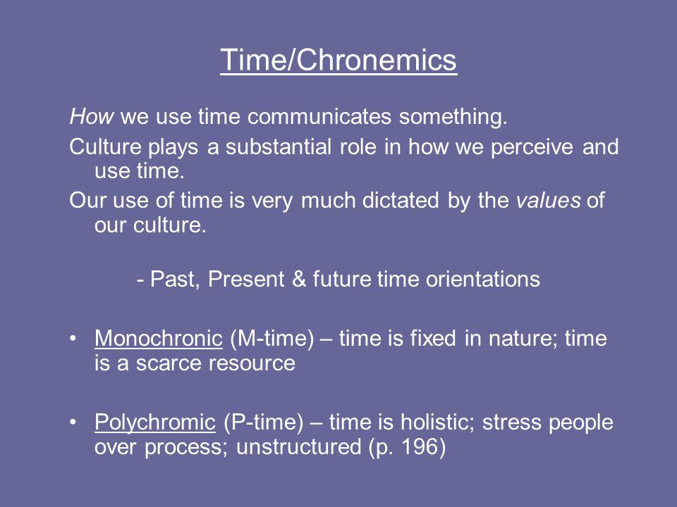 Time/Chronemics How we use time communicates something.