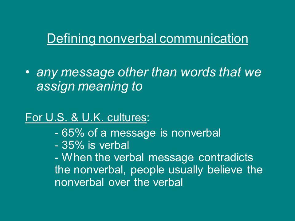 Defining nonverbal communication