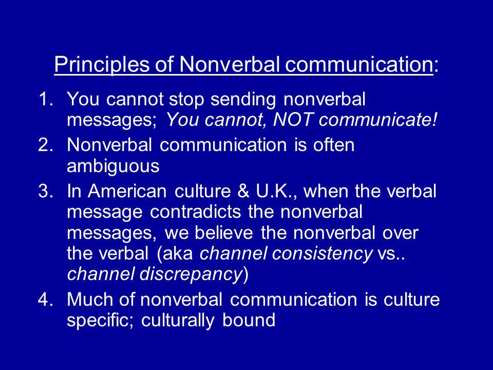 Principles of Nonverbal communication:
