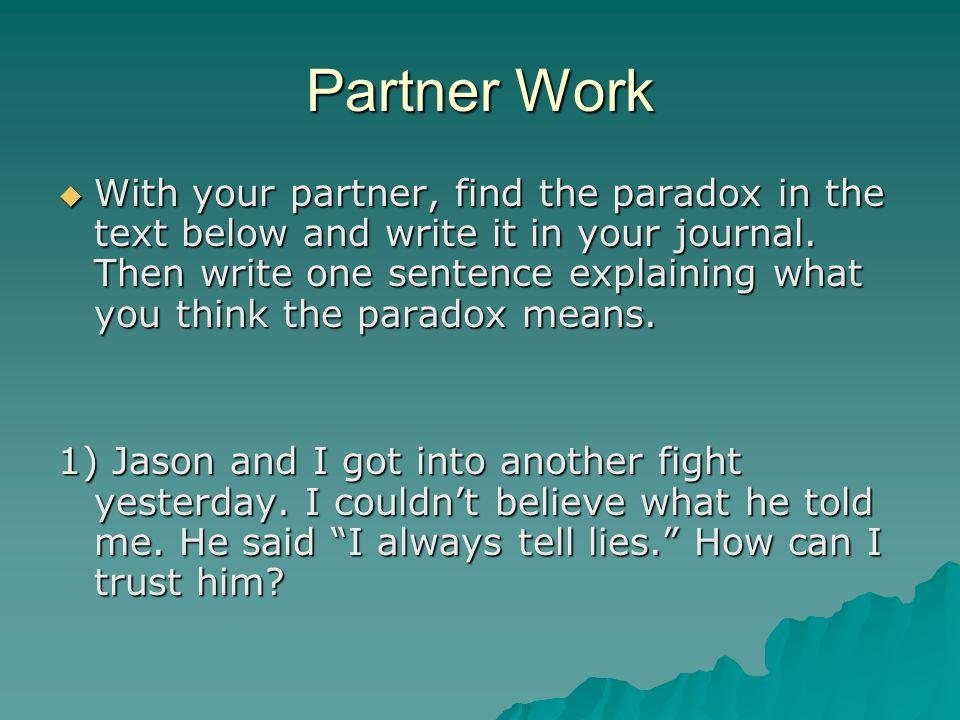 Partner Work