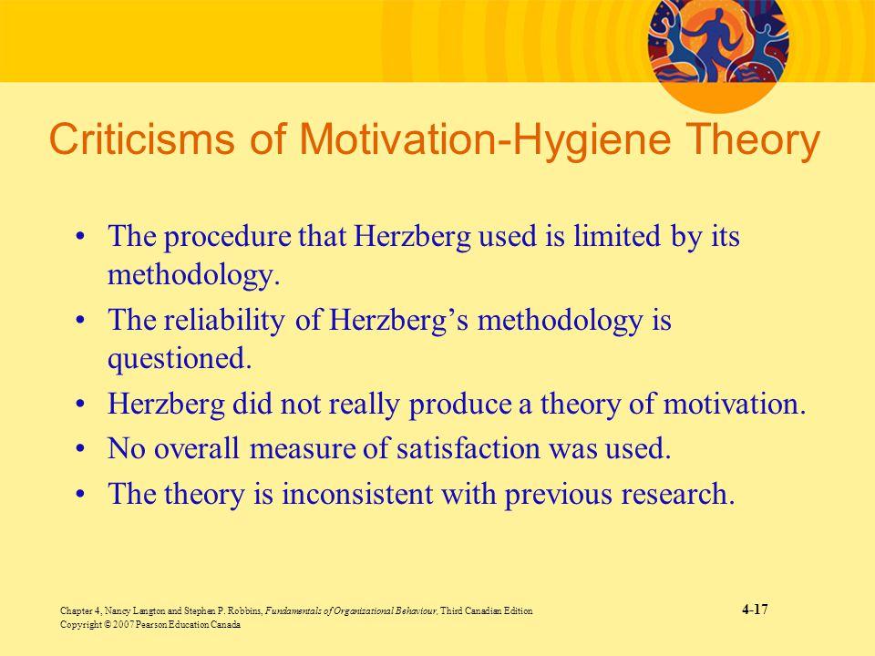 Criticisms of Motivation-Hygiene Theory