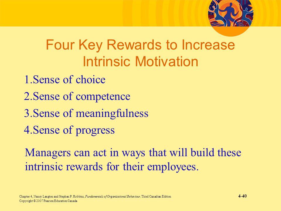 Four Key Rewards to Increase Intrinsic Motivation