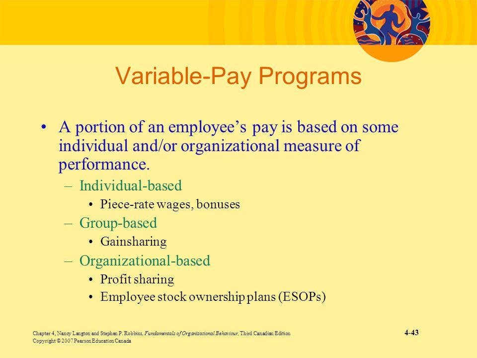 Variable-Pay Programs