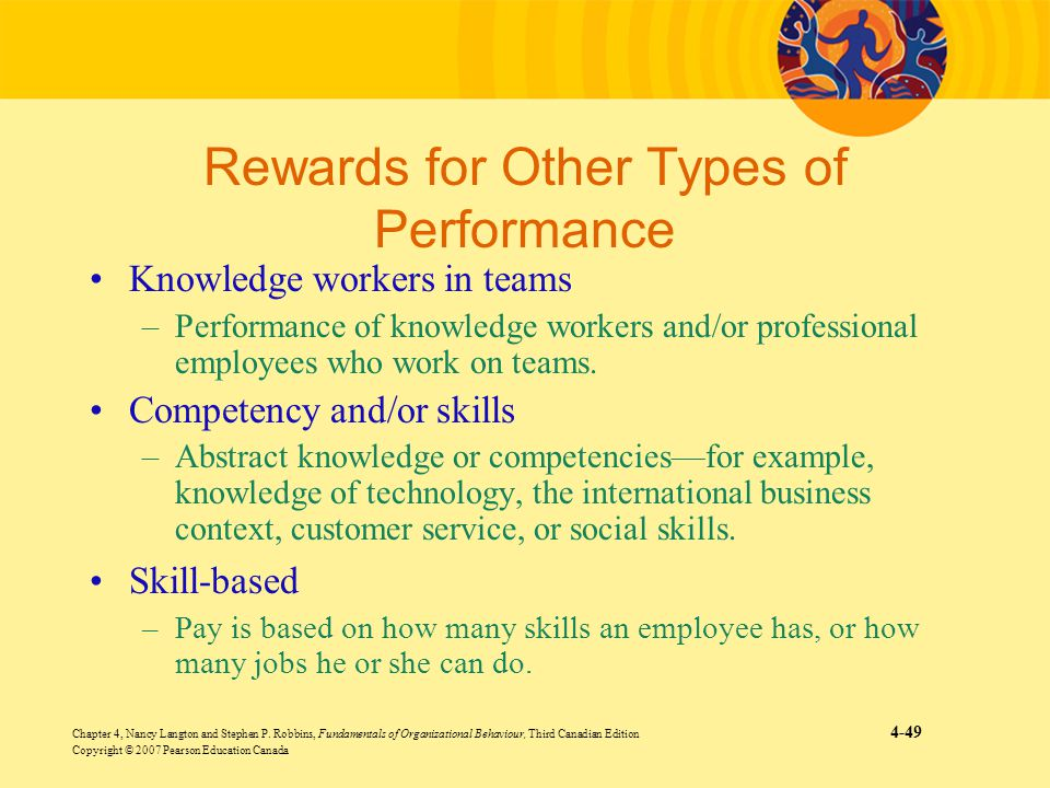 Rewards for Other Types of Performance