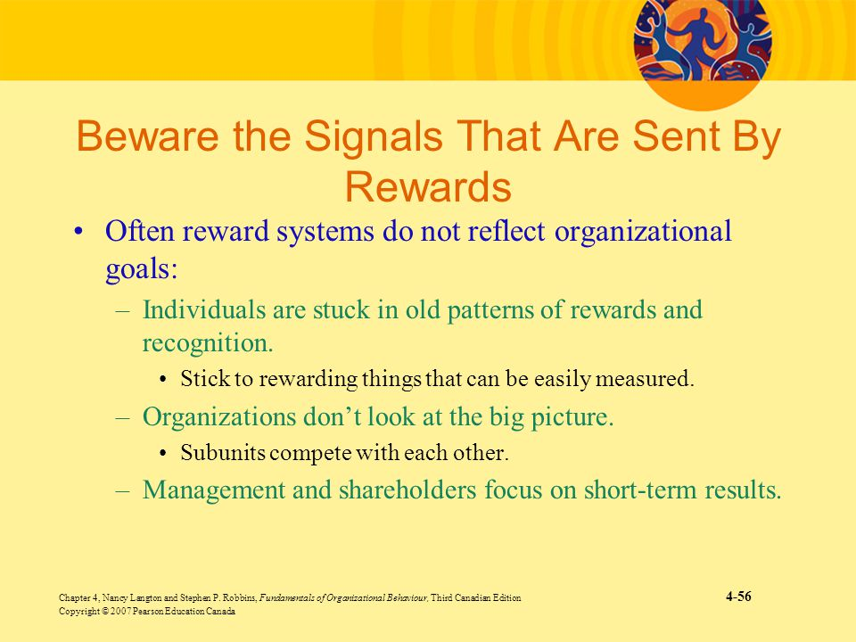 Beware the Signals That Are Sent By Rewards