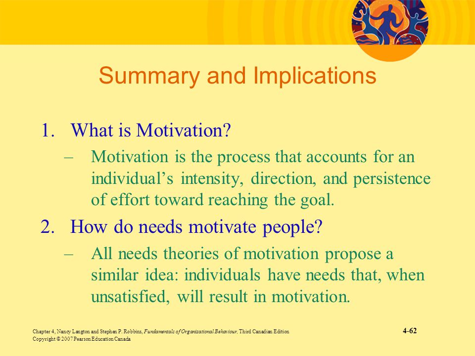 implication of motivational theories in an organization Evaluating motivation theories and their implications  and leaders in an organization is to create willingness amongst the employees to perform to the best of.