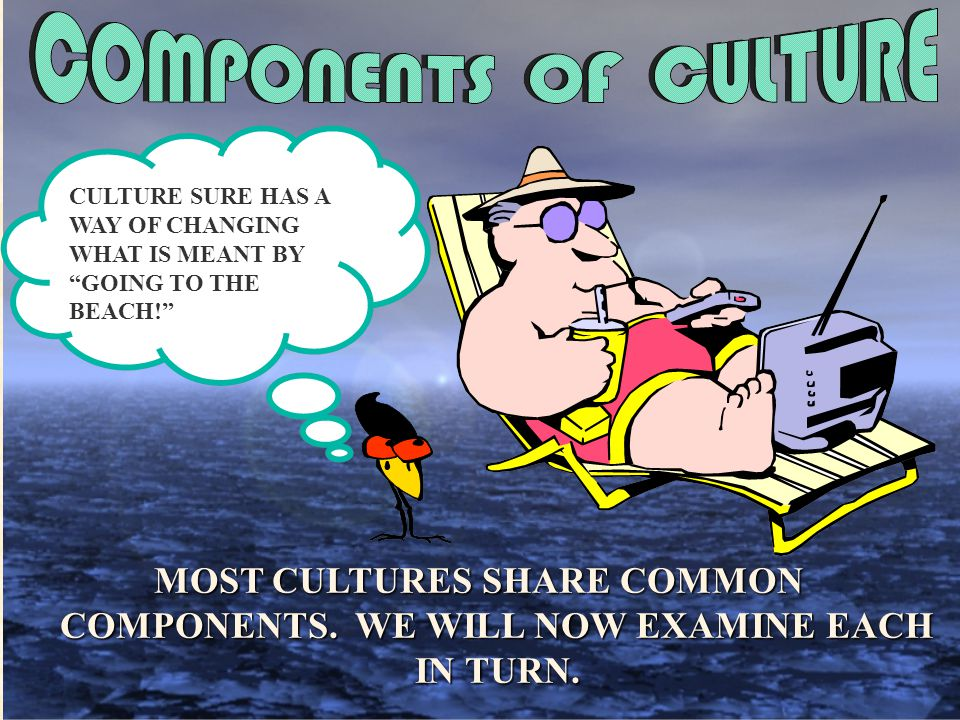 CULTURE SURE HAS A WAY OF CHANGING. WHAT IS MEANT BY. GOING TO THE. BEACH!