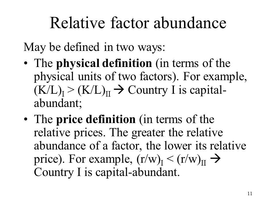 Relative factor abundance