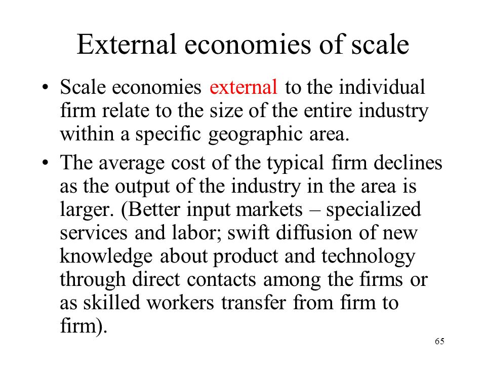 External economies of scale