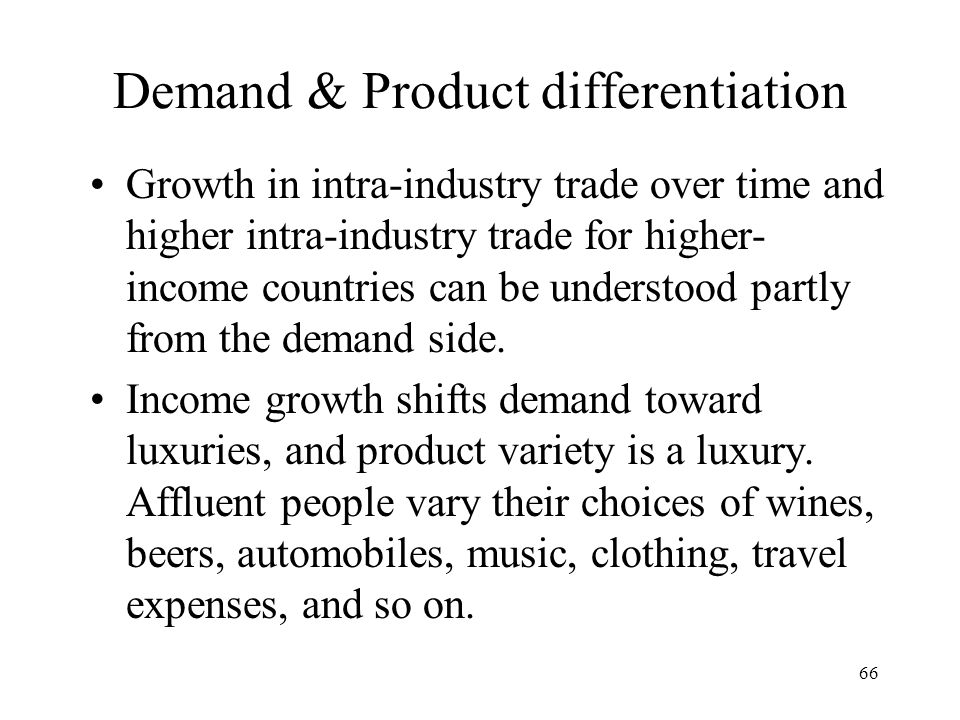 Demand & Product differentiation