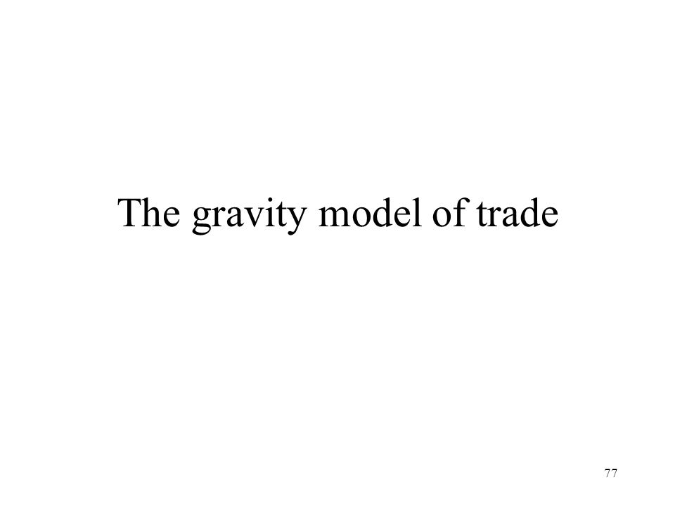 The gravity model of trade