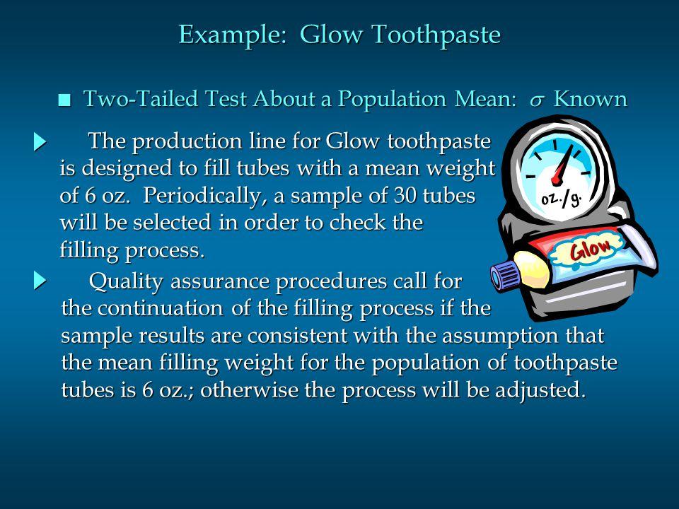 Example: Glow Toothpaste