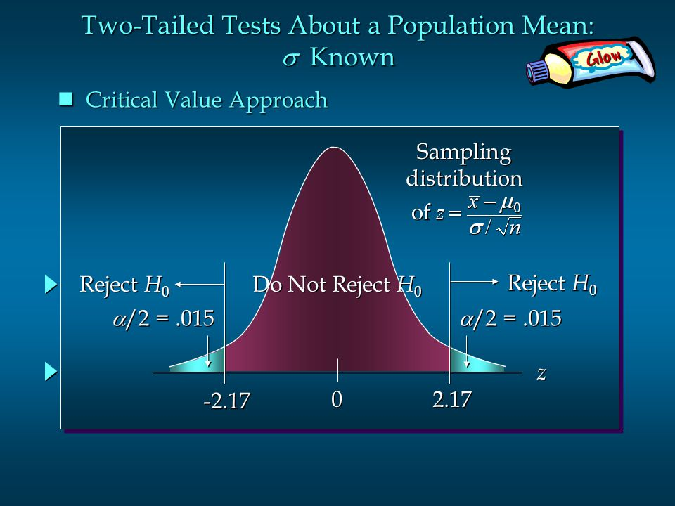 Two-Tailed Tests About a Population Mean: