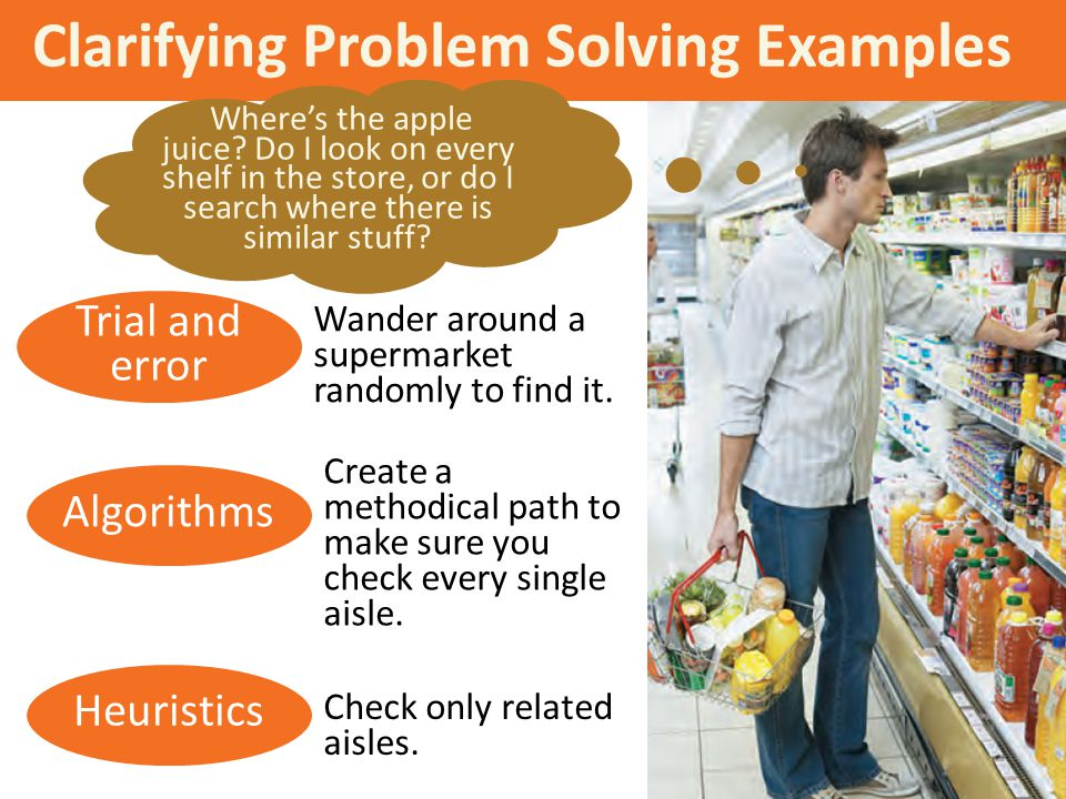 Clarifying Problem Solving Examples
