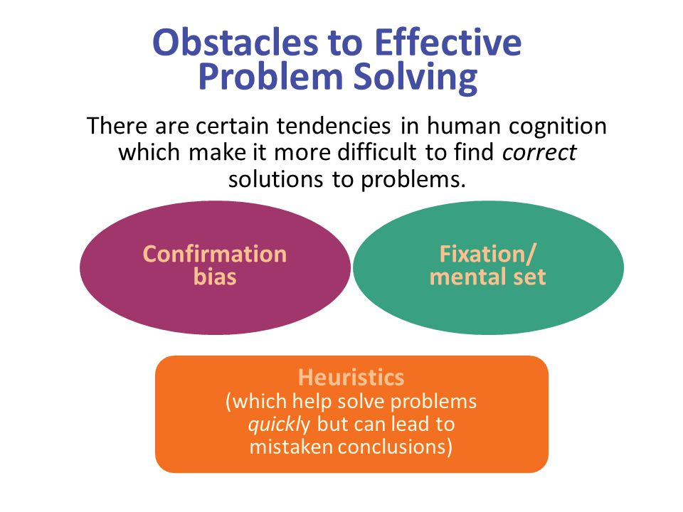 Obstacles to Effective Problem Solving