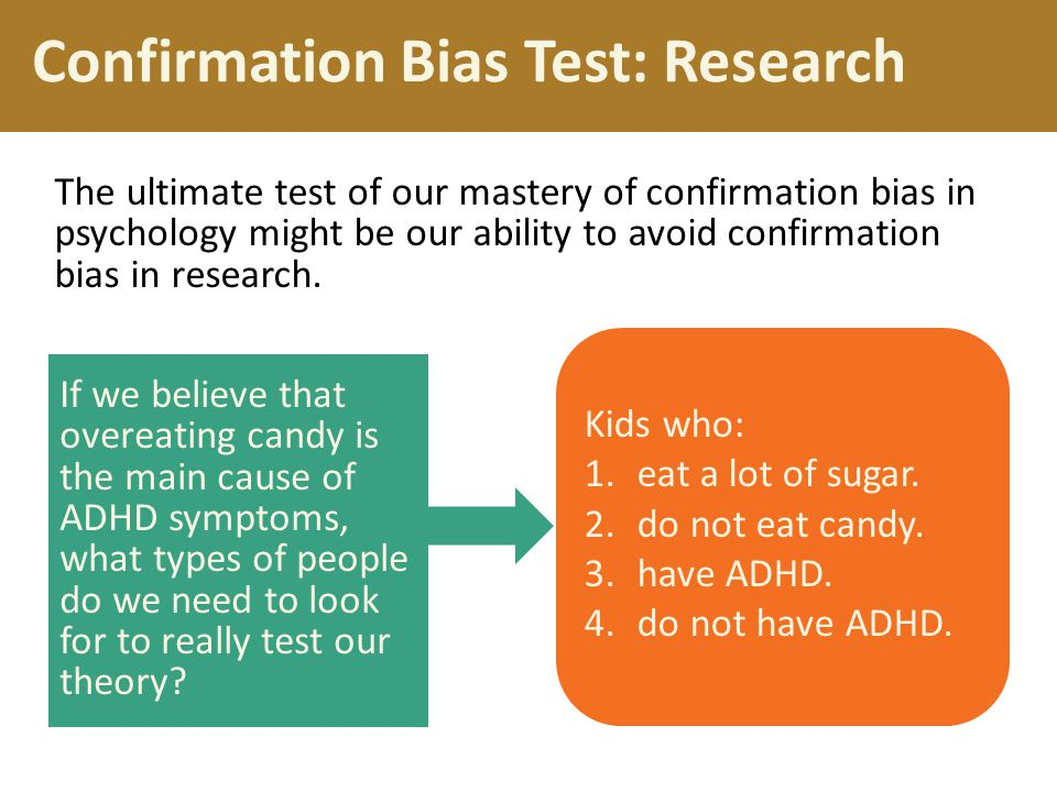 Confirmation Bias Test: Research