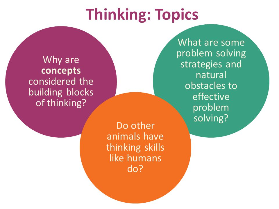 Thinking: Topics What are some problem solving strategies and natural