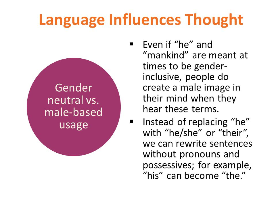 Language Influences Thought
